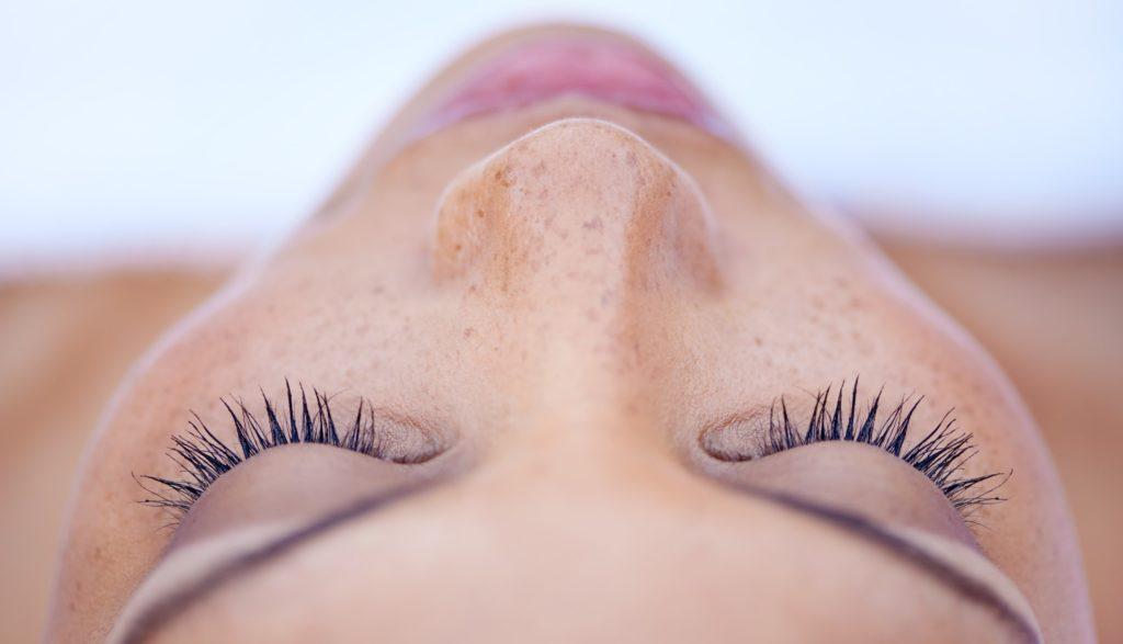 LED blue light facial for acne